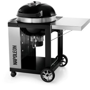 "Napoleon BBQ22"" PRO CART Charcoal Kettle Grill , Black , Charcoal"