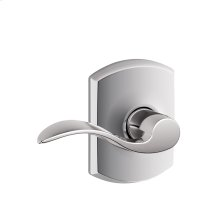 Accent Lever with Greenwich trim Hall & Closet Lock - Bright Chrome