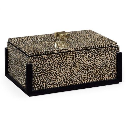Rectangular Eggshell Box with Brass Handle