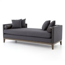 Charcoal Felt Cover Mercury Double Chaise