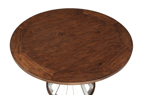 "Emerald Home Oxford Hills 60"" Round Gathering Table With Pedestal Base-d431-16-k"