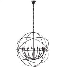 "Atom 39.5"" Pendant Steel Chandelier in Brown"
