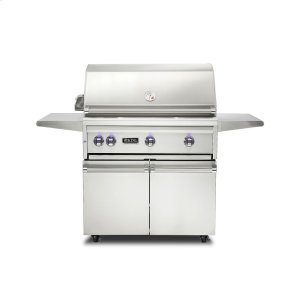 "Viking36""W. Freestanding Grill with ProSear Burner and Rotisserie - VQGFS5361 Viking 5 Series"