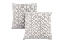 "PILLOW - 18""X 18"" / LIGHT GREY GEOMETRIC DESIGN / 2PCS"