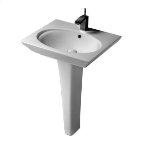 "Opulence Pedestal Lavatory - ""Hers"" - White Product Image"