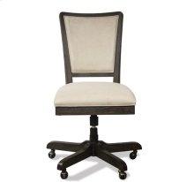Vogue Upholstered Desk Chair Umber finish