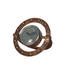 Metal Table Clock Rivet Ring Design, Copper