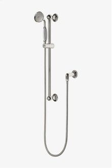 Easton Classic Handshower On Bar with White Porcelain Handle STYLE: EAHS46