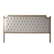 Louis Tufted Headboard (King, Natural Linen)