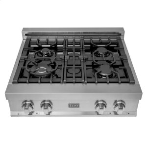 Zline KitchenZLINE 30 in. Porcelain Rangetop with 4 Gas Burners (RT30)
