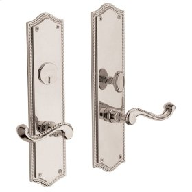 Polished Nickel with Lifetime Finish Bristol Escutcheon Entrance Set