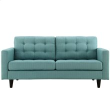 Empress Upholstered Fabric Loveseat in Laguna