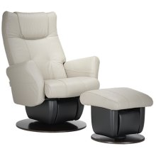 The Dallas glider is part of the AvantGlide collection and features rounded armrests and integreated headrest in seatback.