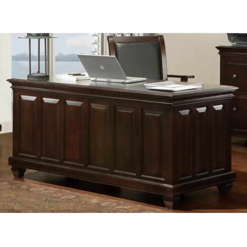 Florentino Executive Desk W/Keyboard Pullout and File Drawers