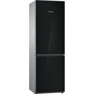 800 Series Free-standing fridge-freezer with freezer at bottom, glass door Black, 60 cm B10CB80NVB