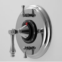 """1/2"""" Thermostatic Shower Set with Lexington Handle and Two Volume Controls (available as trim only)"""