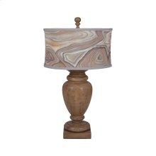 Turned Urn Table Lamp In Artisan Dark Stain