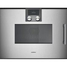 200 Series Speed Microwave Oven Full Glass Door In Gaggenau Metallic Left-hinged Controls On Top