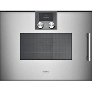 Gaggenau200 series 200 series speed microwave oven Full glass door in Gaggenau Metallic Left-hinged Controls on top