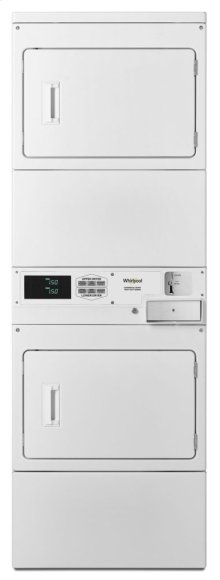 Commercial Electric Stack Dryer, Coin-Drop Equipped White