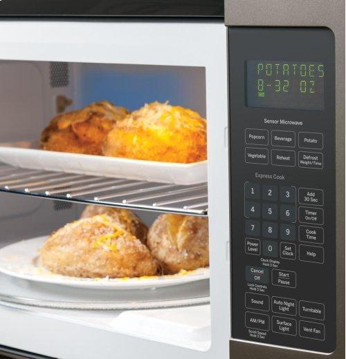 GE® Series 1.7 Cu. Ft. Over-the-Range Sensor Microwave Oven