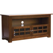 """Audio Video Stand Hardwood unit - fits AV components and TVs up to 56"""""""