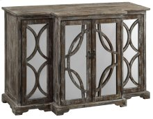 Galloway 4 Door Rustic Wood and Mirror Sideboard