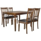 Kodiak 5 Piece Dining Set - Light Oak / Black Product Image