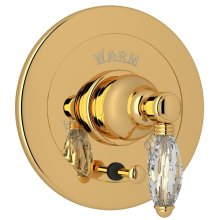 Italian Brass Italian Bath Integrated Volume Control Pressure Balance Trim With Diverter with Crystal Lever