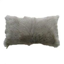 Goat Fur Bolster Light Grey
