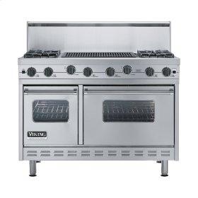 "Stainless Steel 48"" Sealed Burner Range - VGIC (48"" wide, four burners 24"" wide char-grill)"