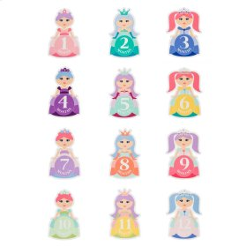12 pc. set. Monthly Princess Belly Stickers