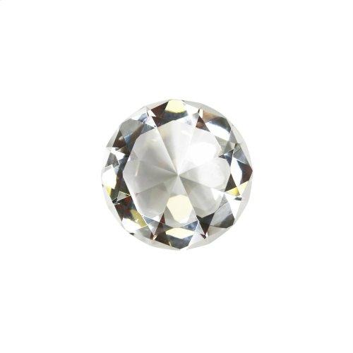 """Glass Diamond Decor, 3"""", Clear"""
