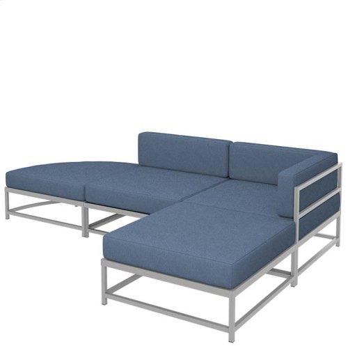 "Cabana Club Cushion Square Ottoman (17"" Seat Height)"