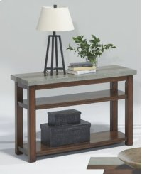 Sofa/Console Table - Nutmeg and Cement Finish Product Image