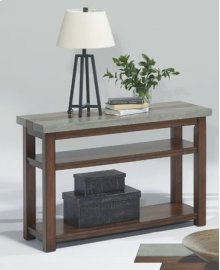 Sofa/Console Table - Nutmeg and Cement Finish