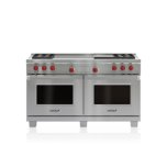 "WOLF60"" Dual Fuel Range - 4 Burners, Infrared Griddle and French Top"