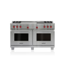 """60"""" Dual Fuel Range - 4 Burners, Infrared Griddle and French Top"""