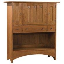 Bottom Door Concealed Wine Rack, Oak Harvey Ellis Fall Front Desk