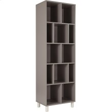 "Montclair Collection 72.75""H 12 Compartment Shelf Bookcase in Gray Finish"