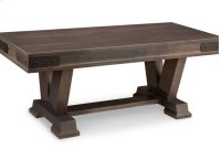 """Chattanooga 48"""" Pedestal Bench in Fabric or Bonded Leather Product Image"""