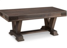 "Chattanooga 48"" Pedestal Bench in Leather"