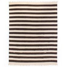 Striped Grey Cotton Rug-9x12'