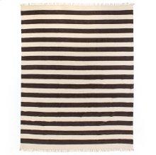 9'x12' Size Striped Grey Cotton Rug