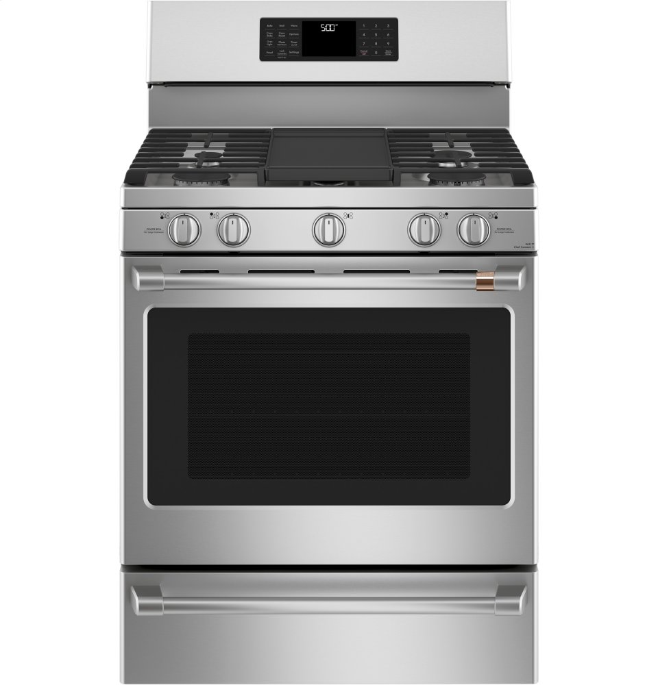 """Cafe Appliances30"""" Smart Free-Standing Gas Range With Convection"""