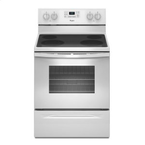 5.3 Cu. Ft. Freestanding Electric Range with Easy Wipe Ceramic Glass Cooktop - WHITE