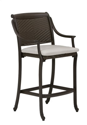 BelMar Woven Stationary Bar Stool with Pad
