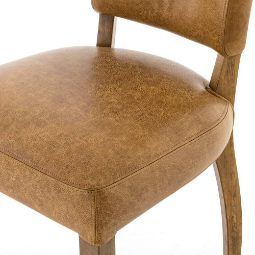 Pampas Nut Cover Weathered Oak Finish Mimi Dining Chair