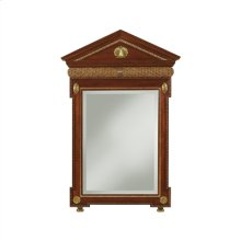 Knightsbridge Mahogany Finished Mirror, Sherwood Brass Accents, Beveled Glass