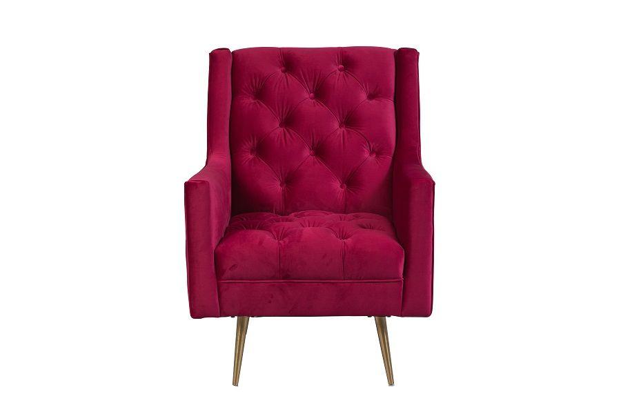 Hidden · Additional Verlaine Fuschia Accent Chair, AC804
